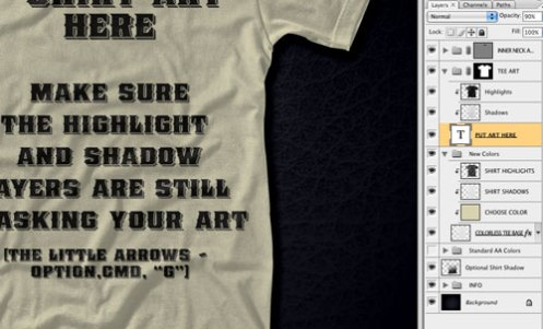 T-Shirt Presentation Template Layers